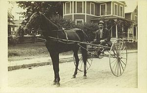 Horse and buggy - Image: Postcard Torrington CT Racing Buggy Circa 1910