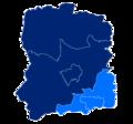 Powiat wołowski granice gmin i miast Brzeg Dolny.png