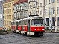 Praha, Libeň, křižovatka Sokolovská-Zenklova, Tatra T3R.P č. 8418+?.jpg