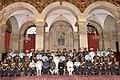 Pranab Mukherjee, the Vice President, Shri Mohd. Hamid Ansari, the Prime Minister, Shri Narendra Modi, the Union Minister for Defence, Shri Manohar Parrikar and other dignitaries at the Defence Investiture Ceremony–I.jpg
