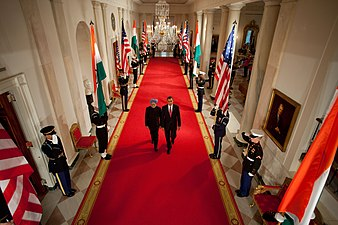 President Barack Obama meets with Prime Minister Manmohan Singh