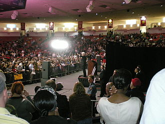 Hofheinz Pavilion - Former U.S. President Bill Clinton speaking at Hofheinz Pavilion during a campaign rally for Hillary Clinton