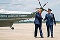 President Trump Arrives at Joint Base Andrews (48135443018).jpg