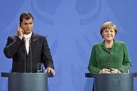 Presidente Correa es recibido por Angela Merkel en Berlín (8657678261).jpg