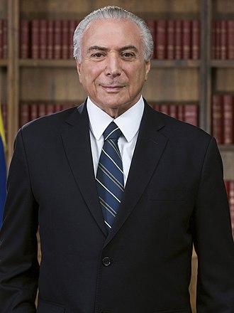 2008 Brazilian municipal elections - Image: Presidente Michel Temer (foto oficial) cortada (cropped 2)