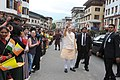 Prime Minister Narendra Modi waves to people in Thimphu.jpg