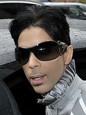A shot of Prince, peering into a nearby camera.