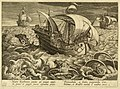 Print, Three ships surrounded by monsters, ca. 1590 (CH 18553601).jpg