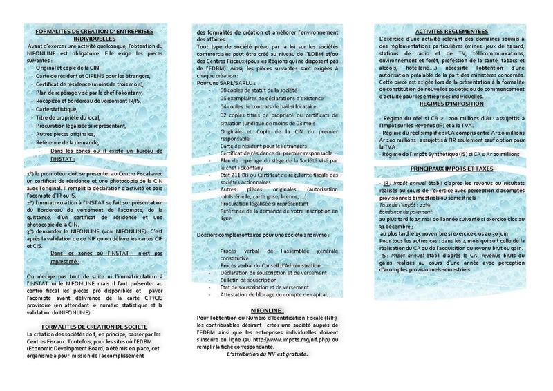 Carte Statistique Madagascar.File Procedure De Creation D Une Entreprise A Madagascar Pdf