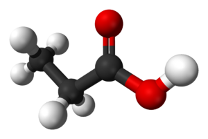 Propionic acid - Image: Propionic acid 3D balls