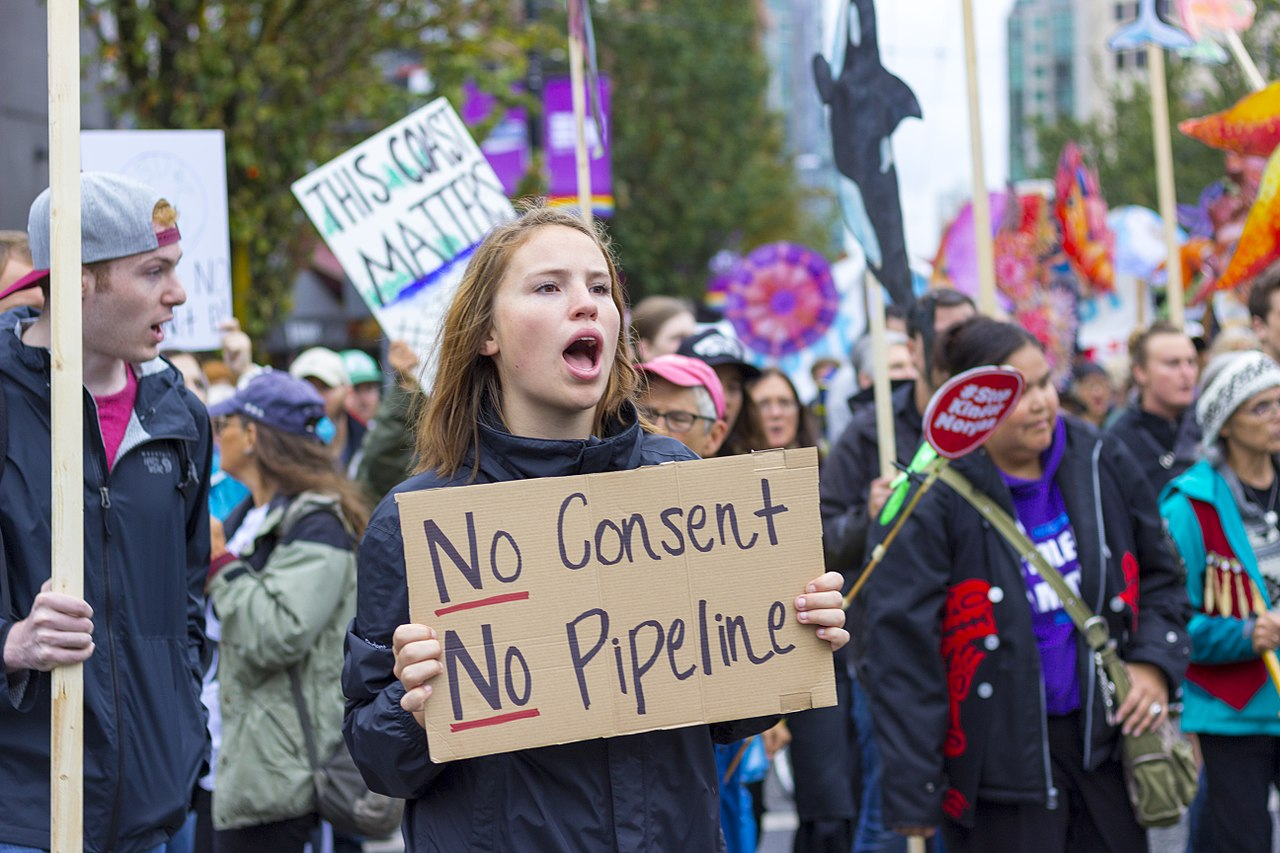 Canadian Protest of Pipeline
