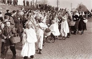 Kurentovanje - One of the first instances of Kurentovanje in 1961.