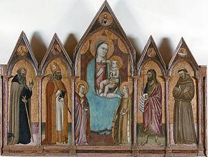 Puccio di Simone - Polittico with Madonna and Saints, Certaldo, Museum of Sacred Art