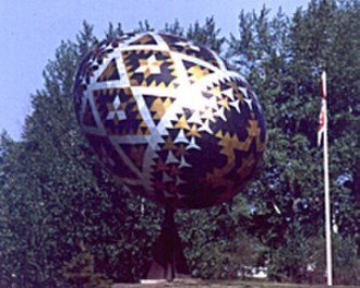 Pysanka - The world's largest pysanka was erected in Vegreville, Alberta in 1974, commemorating the 100th anniversary of the Royal Canadian Mounted Police.