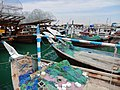 Qatar, Al Khor (12), Dhows in the harbour.JPG