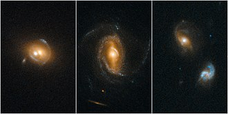 Sloan Digital Sky Survey - Quasars acting as gravitational lenses. To find these cases of galaxy–quasar combinations acting as lenses, astronomers selected 23,000 quasar spectra from the SDSS.
