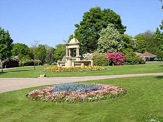 Queens Park, Burnley Park in Burnley, United Kingdom