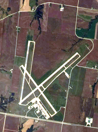 Quincy Regional Airport - NASA astronaut photo, 2008