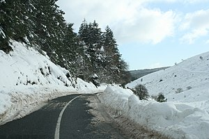 R116 road (Ireland) - R116 approaching Glencullen from the West