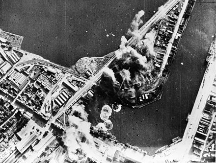 A Royal Air Force attack on Saint-Malo in 1942.