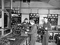 RAF electricians testing and charging aircraft batteries at Ford in May 1943. CH10089.jpg