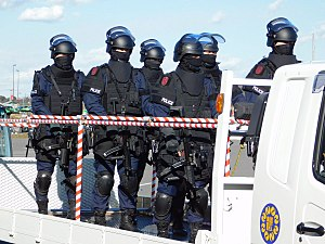 Law enforcement in Japan - Anti-firearms officers of the Saitama Prefectural Police.
