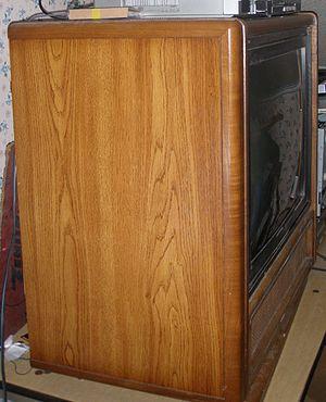 Wood veneer - Wood veneer RCA Dimensia console TV set