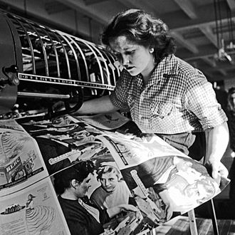 Wage reform in the Soviet Union, 1956–62 - Lidiya Kulagina, a worker in the newspaper Pravda print shop (1959)