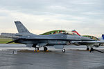 ROCAF F-16A 6642 Parked at Apron of Hsinchu AFB after Flight Demonstration 20151121a.jpg