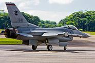 RSAF F-16 on taxi