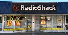 Closing sale at Radio Shack in Miami, Florida