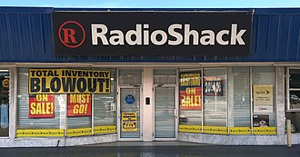 RadioShack - The effects of a liquidation sale at this typical RadioShack outlet in Miami, Florida (2016).