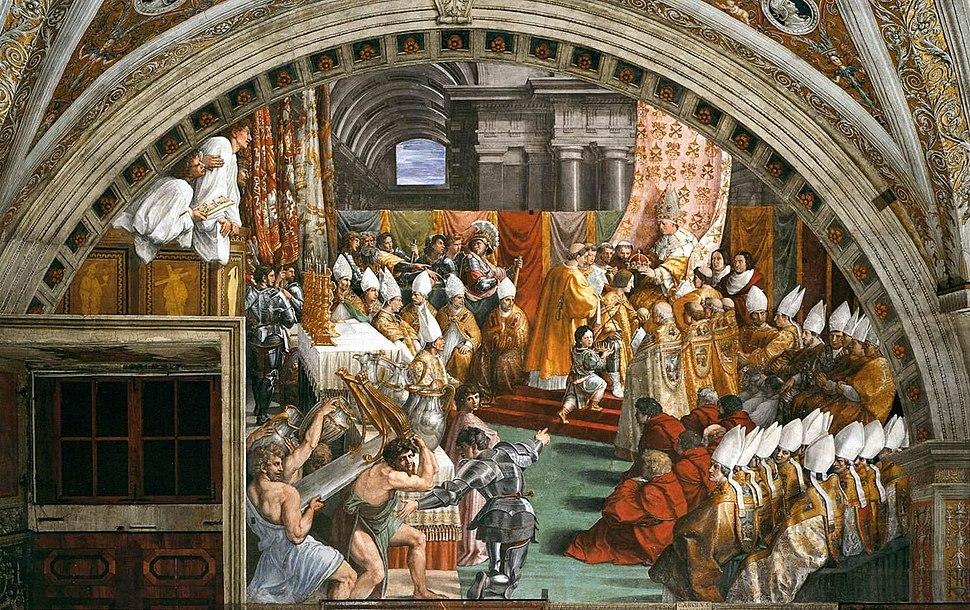Raffaello Sanzio - The Coronation of Charlemagne - WGA18761