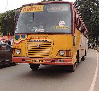 Kerala State Road Transport Corporation - Rajadhani bus