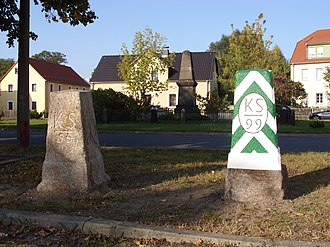 History of Saxony - Saxon-Prussian Boundary