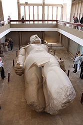 Ramses II colossal statue in Memphis 2010 4.jpg