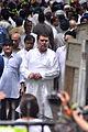 Raza Murad at Dara Singh's funeral 08.jpg