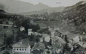 Robič - Image: Razglednica Robiča 1910