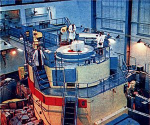 Der Reaktor Ewa im Jahr 1974