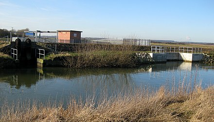 Redbourne Hayes is one of 12 pumping stations run by the Ancholme IDB which discharge into the river. - River Ancholme