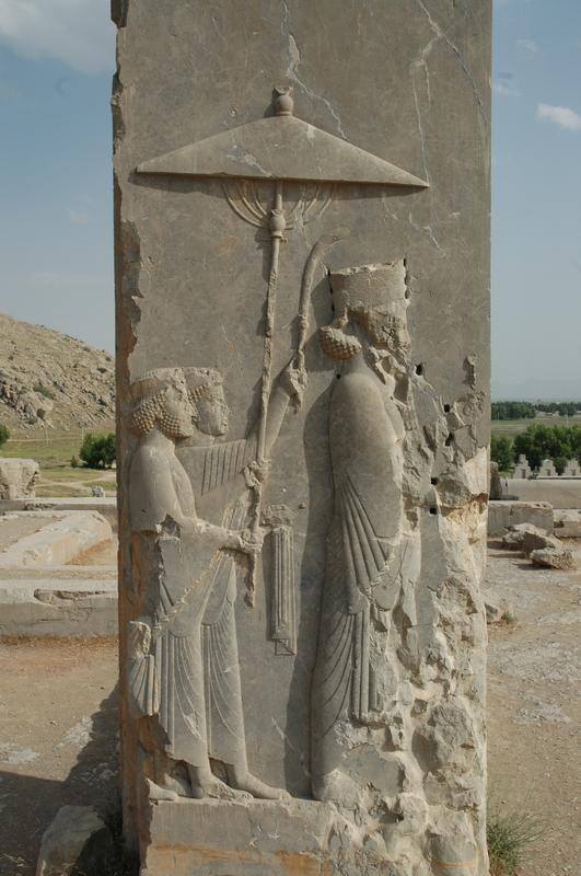 Relief of Xerxes at Doorway of his Palace, Persepolis, Iran