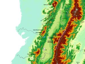 Relieve Valle del Cauca.