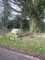 Remains of preaching cross at Trellech Cross - geograph.org.uk - 109762.jpg