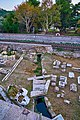 Remains of the Great Drain (?) beyond the train line in the Ancient Agora of Athens on November 14, 2020.jpg