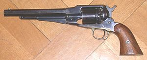 Remington Model 1858 - Remington New Model Army Revolver, early model with mortised frontsight