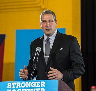 Tim Ryan (politician) - Ryan speaking at a rally for Hillary Clinton, October 2016