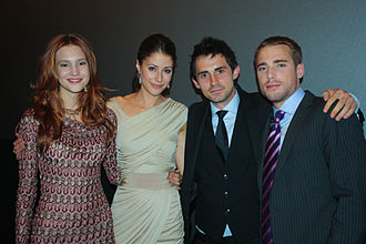 Repeaters - The cast of Repeaters at the Toronto International Film Festival (left to right): Alexia Fast, Amanda Crew, Richard de Klerk, and Dustin Milligan