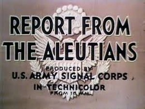 Report from the Aleutians - Title card