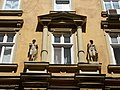Residential house. Monument ID 11523. Sculptures. - Budapest, VII. Dohány street 28.JPG