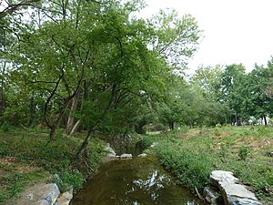 Watts Branch (Anacostia River) - A restored portion of Watts Branch in 2011